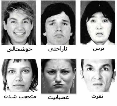 زبان بدن - حالات چهره
